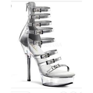 Pleaser sexy strappy heels